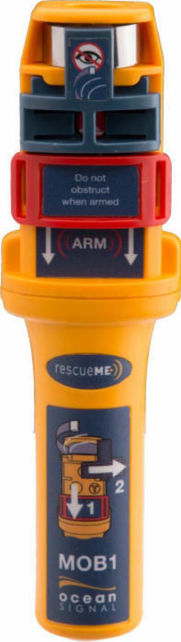 AIS-SART: Seileren var utstyrt med en Ocean Signal rescueME MOB1 med AIS og DSC.