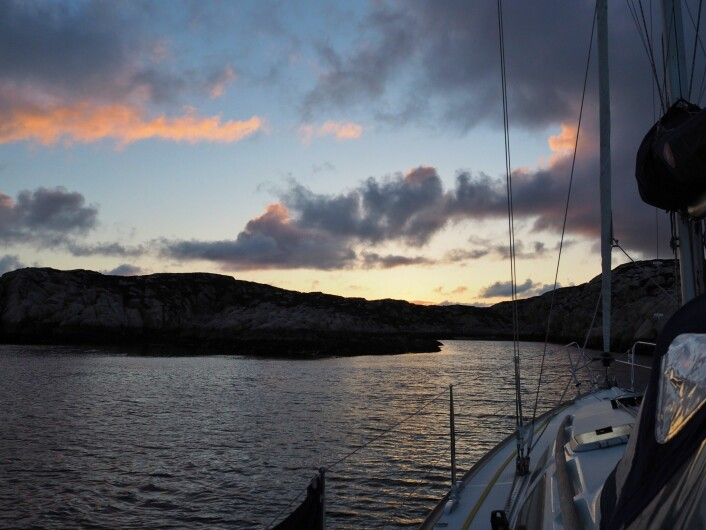Solnedgang ved Prestøya