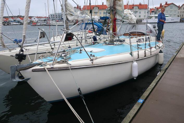 SJØSTERK. Emma Ringqvist seilte en kraftig bygget 32-foter fra 1969.
