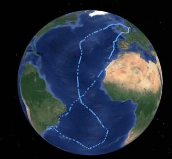 RUTE: Emma Ringqvist  seilte 15 000 nautiske mil på ni måneder.