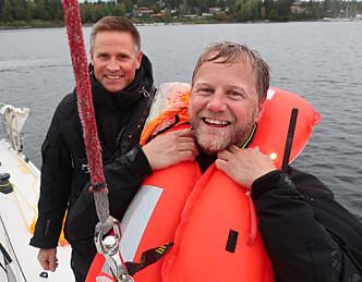 I sjøen etter målgang