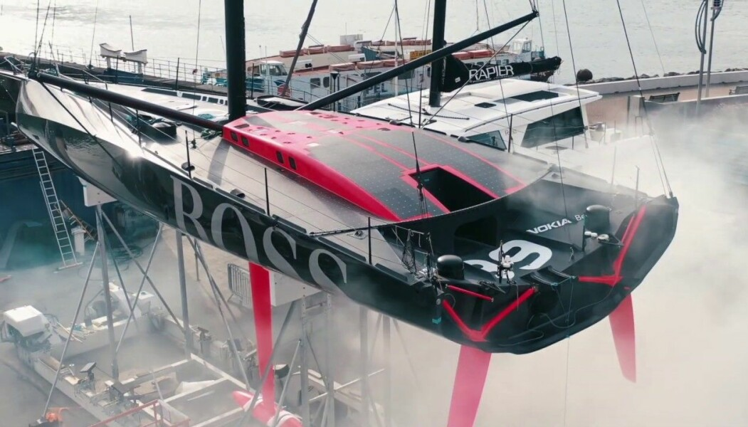 EKSTREM: «Hugo Boss» er bygget med tanke på aerodynamikk. Store krefter gjør båten utsatt for strukturelle skader..