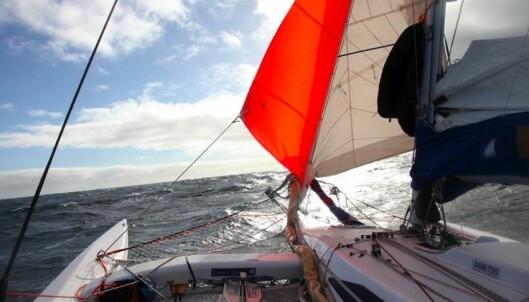 «Northern Passage» i frisk lens med bare fokkene satt
