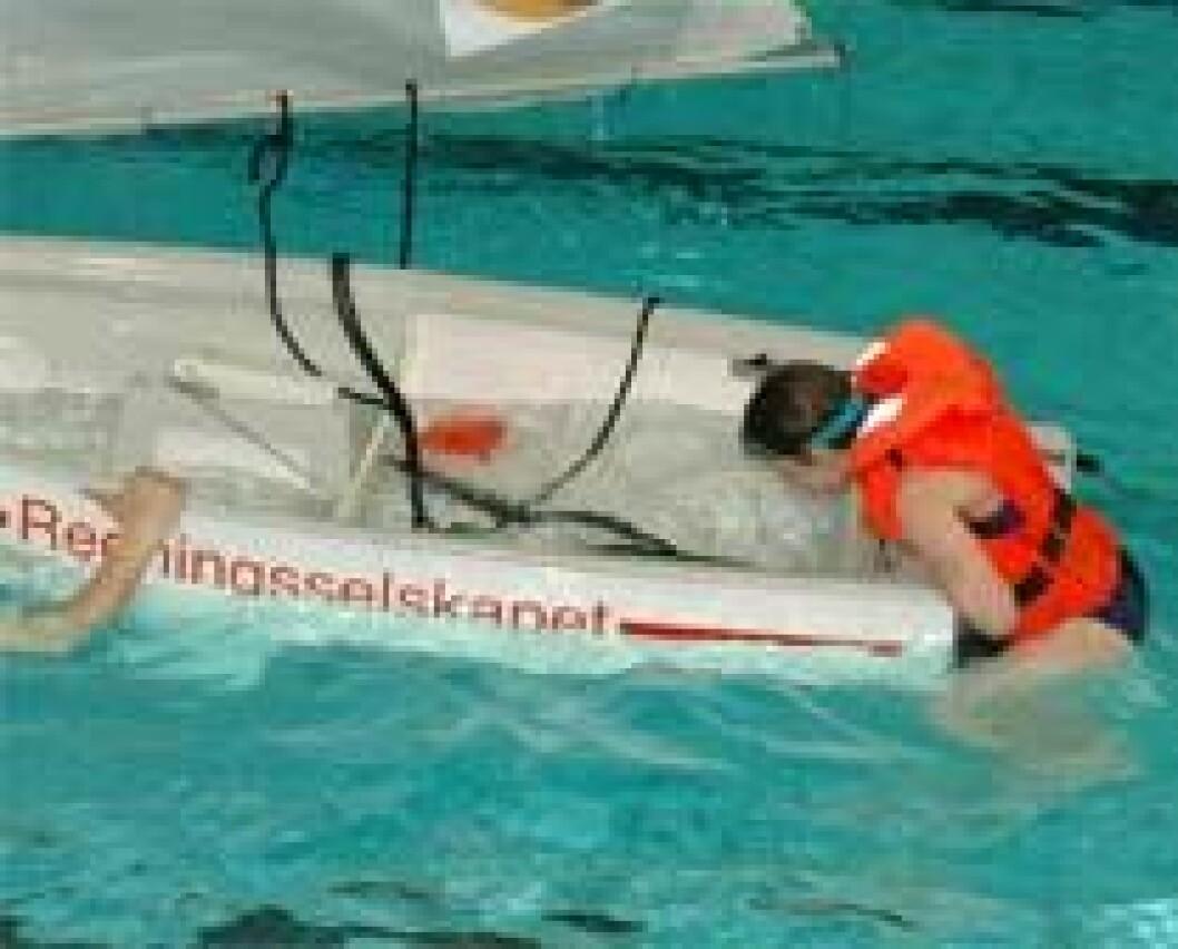 Jolle-trening i basseng