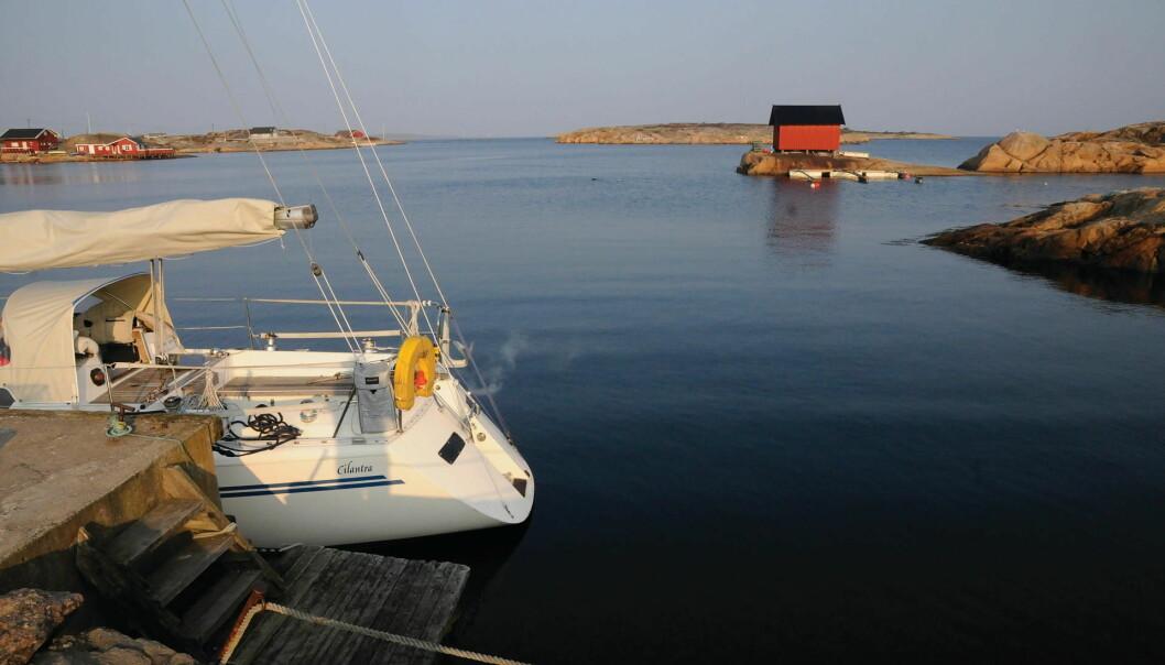 IDYLL: Solskinnsmorgen i Papperhavn på Hvaler i påsken 2011. Seilturen til Koster i april lot seg gjennomføre takket være varmeapperat.
