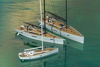 X: X-Yachts lanserer en helt ny serie raske moderne turseilere. 60-foteren X6 er straks ferdig, mens 40 foteren X4 skal seile før sommeren. Den plassere seg midt mellom Xp 38 og Xp 44, men blir litt snillere. X8 er fremdeles kun på ...