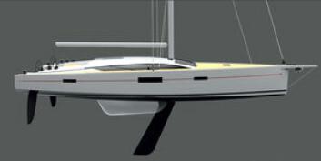 LANGBEINT: Franske RM Yachts har en 52-foter på tegnbrettet. Det blir et skikkelig stykejern med ulike løsninger for kjølen. Båten kan leveres med firkantet storseil. Under cockpiten er det jollegarasje. Båten har ...