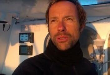 TØFT: Tross fint vær. Coville har jobbet hardt for å få båten til å seile raskest mulig, og bli plassert riktig i forhold til lavtrykket som kommer fra vest. Det kan være toget til en ny rekord.