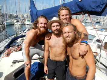 KLARE: Joppe Havig-Gjelseth, Kim Bye, Andreas Nikolai Bjørn-Hansen og Espen Lyng er klare for det store havet. Espen Myklebust er ikke med på bildet.