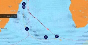KRYMPER: Ledelsen til Coville har krympet med ca 500 nm, men et lavtrykk er på vei.