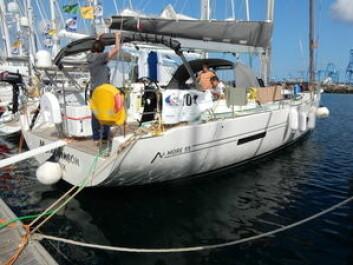 LIKE: I Las Palmas er det fem helt like More 55 som alle skal seile ARC. Båtene skal gå i Charter i Karibia i vinter.