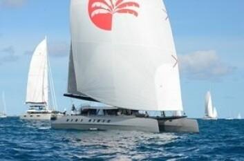 RASK: «Allegra» er en 78 fots katamaran bygget i Karbon.
