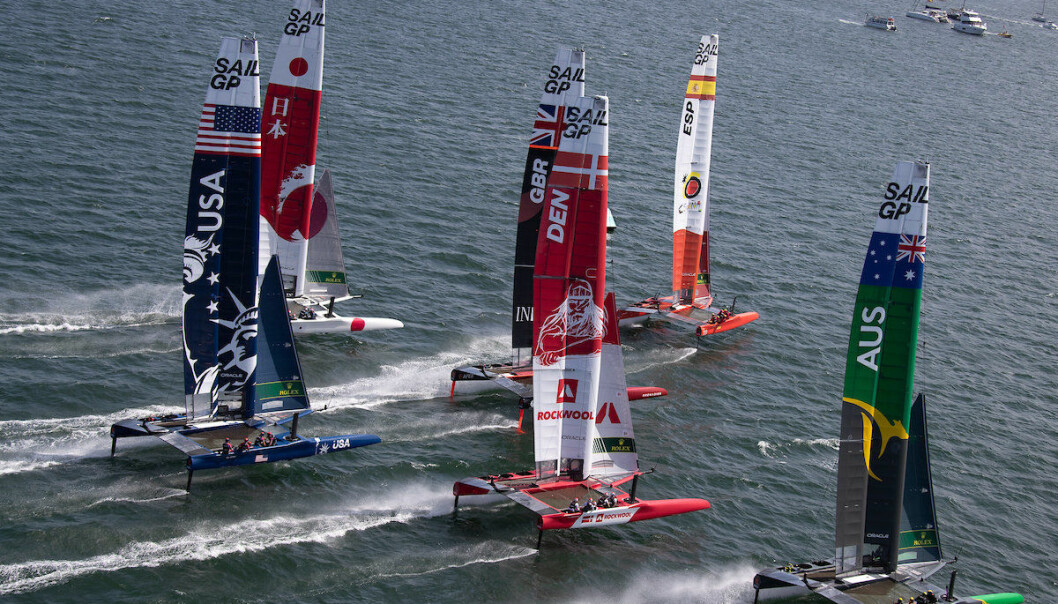 SYDNEY: Første runde av SailGP er igang med syv lag.