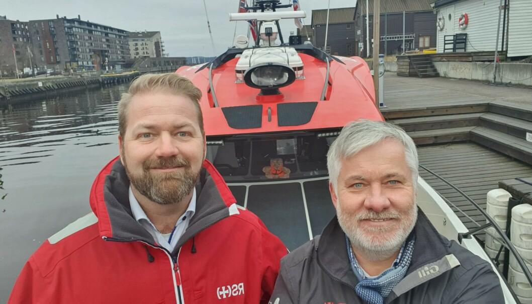 Nicolai Kristiansen og Ole Henrik Nissen-Lie samarbeider om trygghet på sjøen.