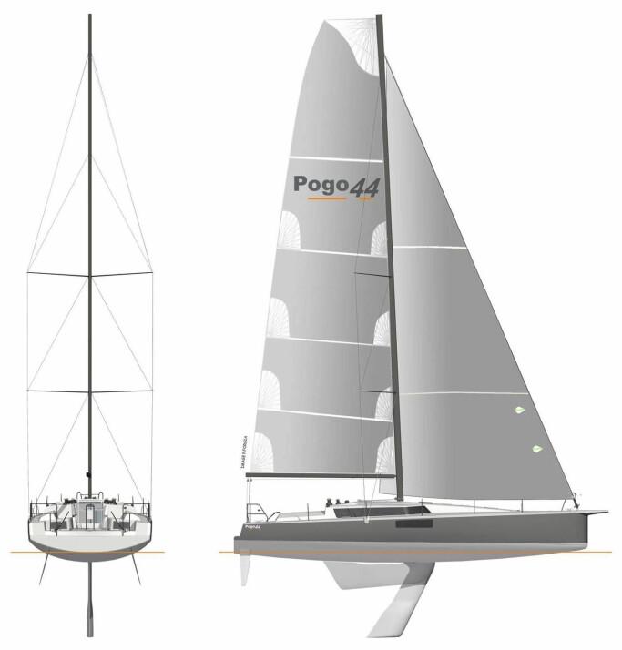 PROFIL: Båten har en svingkjøl som stikker 3,1 meter. Sjekk hvor langt bak masten er plassert.