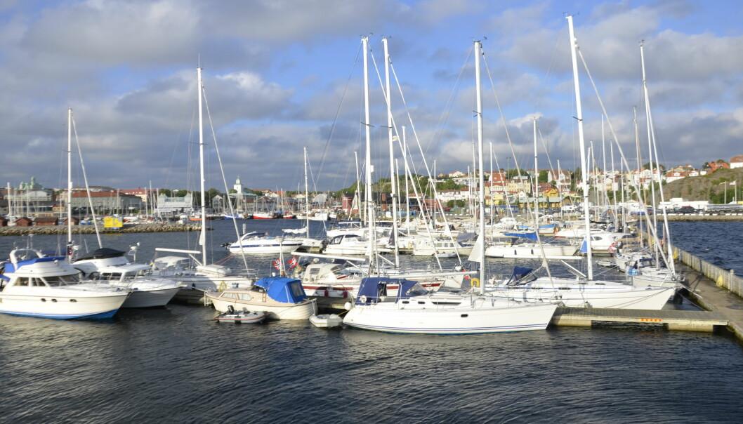 SVERIGE: Havnen i Strömstad er åpen, men grensen til Sverige er stengt.