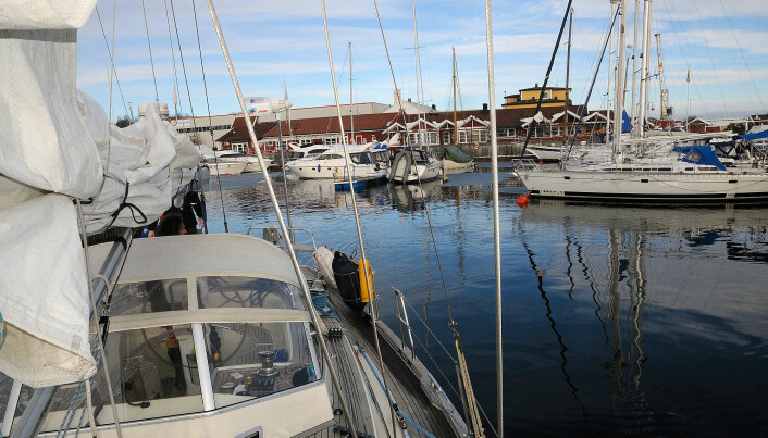 HORTEN: Havnen er åpen, men ønsker ikke besøk.