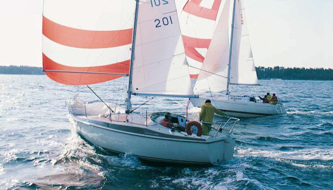 BRUKT: Test av Maxi 84 og Albin Cumulus i 1997, den gangen med 15 år gamle båter.