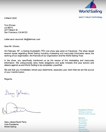 FORFALSKET: Brevet til Tom Ehman som Gary Jobsen nekter han har underskrevet.