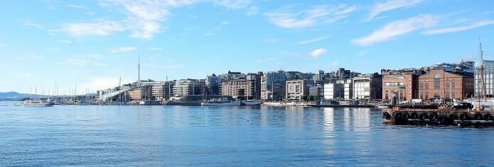 VINTER: På Aker Brygge ligger fremdeles de faste vintergjestene i havna i påsken.