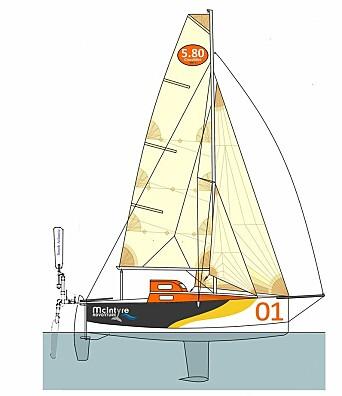 SMÅTT: Båten på 19 for er konstruert for å seile på havet.