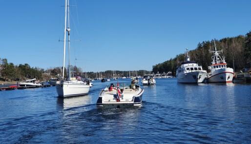 Mange seilere på fjorden i påsken