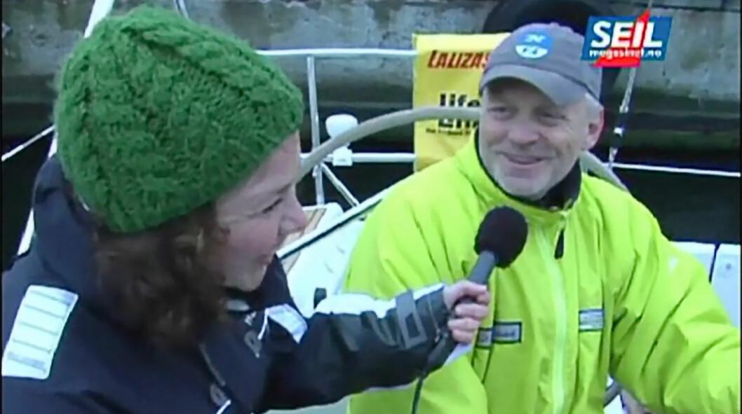 ANKERDRAM: En klassisk ankerdram ble inntatt av dette mannskapet i Skagen i 2008.