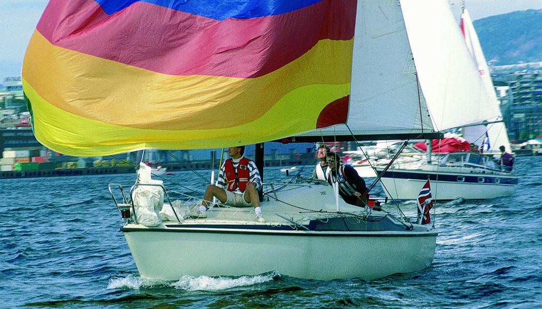 BILLIG: Maxi 77 er en båt du nå kan få slengt etter deg, men det vil kreve arbeid for å få den seilklar.