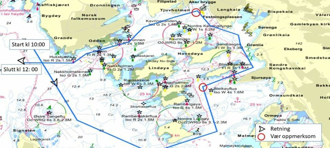 Oslo Seilforening arrangerer 17. mai kortesje