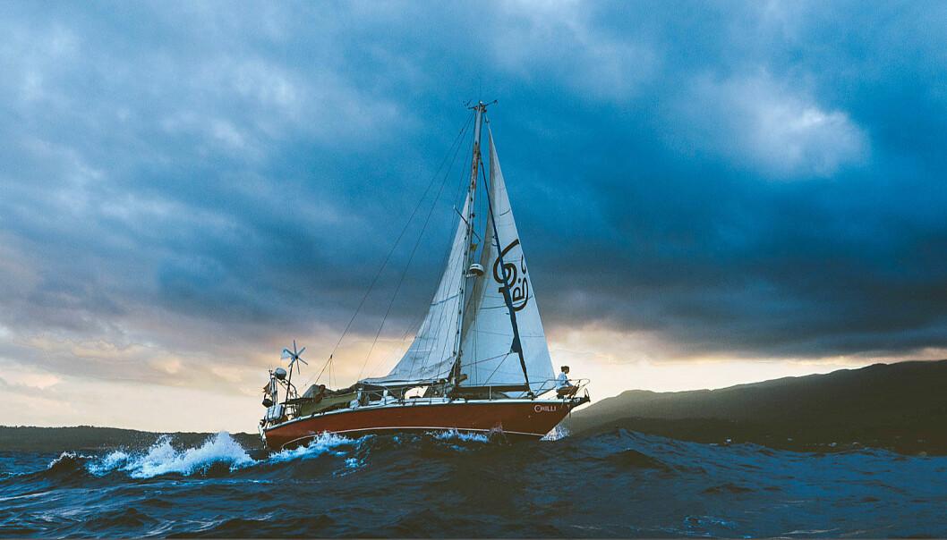 SOLO: Martin Borge Bull skal seile alene fra Jamaica til Norge i sin gamle 36-foter.