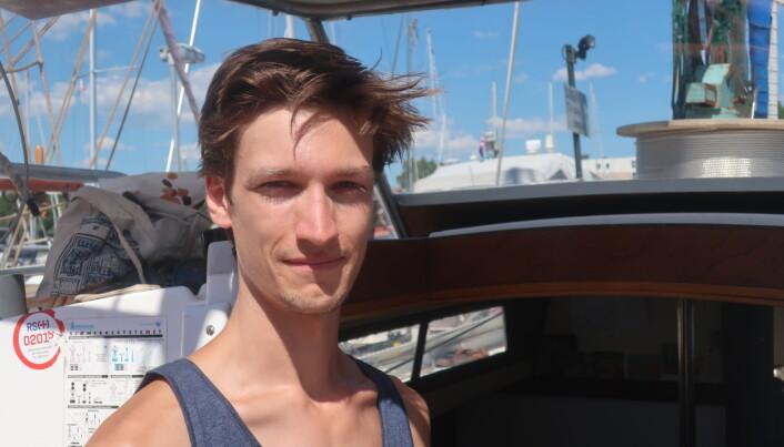 UNG: Martin Borge Bull før avreise i 2018.