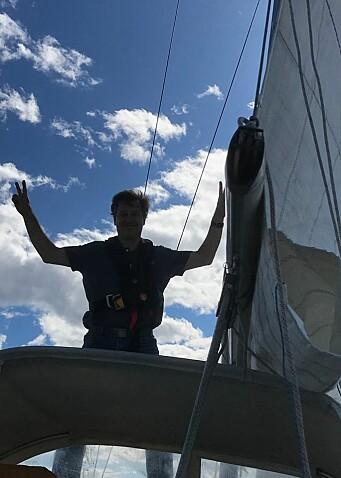VANT: Jorge Veiga seilte med feltets tregeste båt, men vant på korrigert tid, selv om han var sist over målstreken.