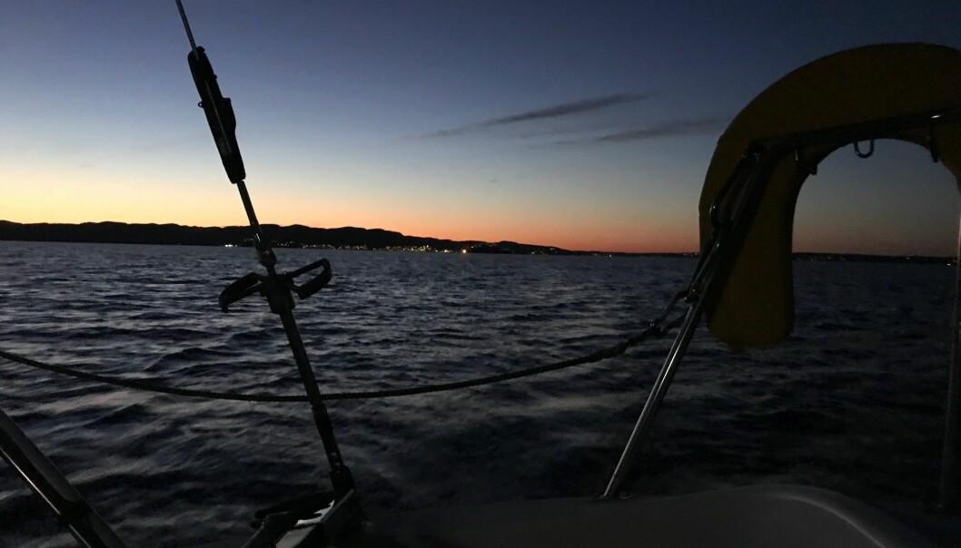 MAGISK: Jorge Veiga seilte sin første regatta, og ble betatt av lyset om natten.