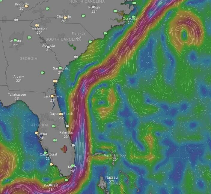 STRØMKART: Når nordavind møter Golfstrømmen blir det ubehagelig.