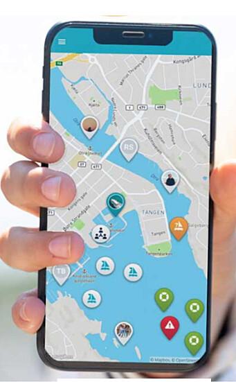 SOSIAL: Appen viser hvor vennene er.