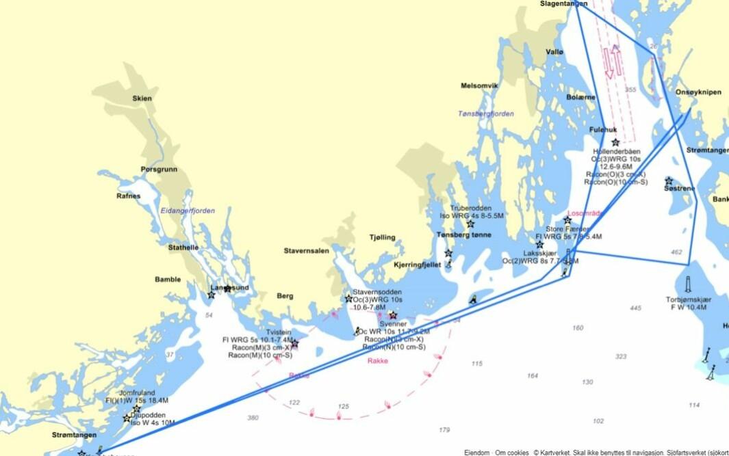 BANE: Rustad Two Star seiles innenfor Norges grenser og blir på ca 140 nm.
