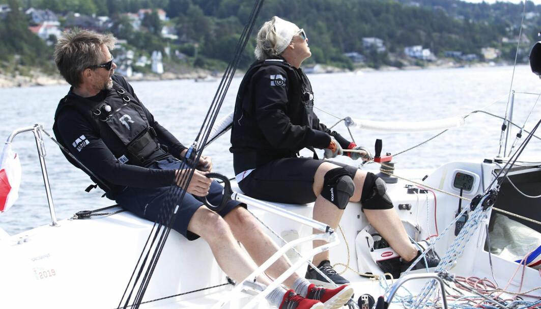 UTFORDRER: Bente Vikenes som seiler sammen med Ole Aabel, er en utfordrer til Christine Walder, som fortsatt er landets beste kvinnelige shorthanded-seiler.