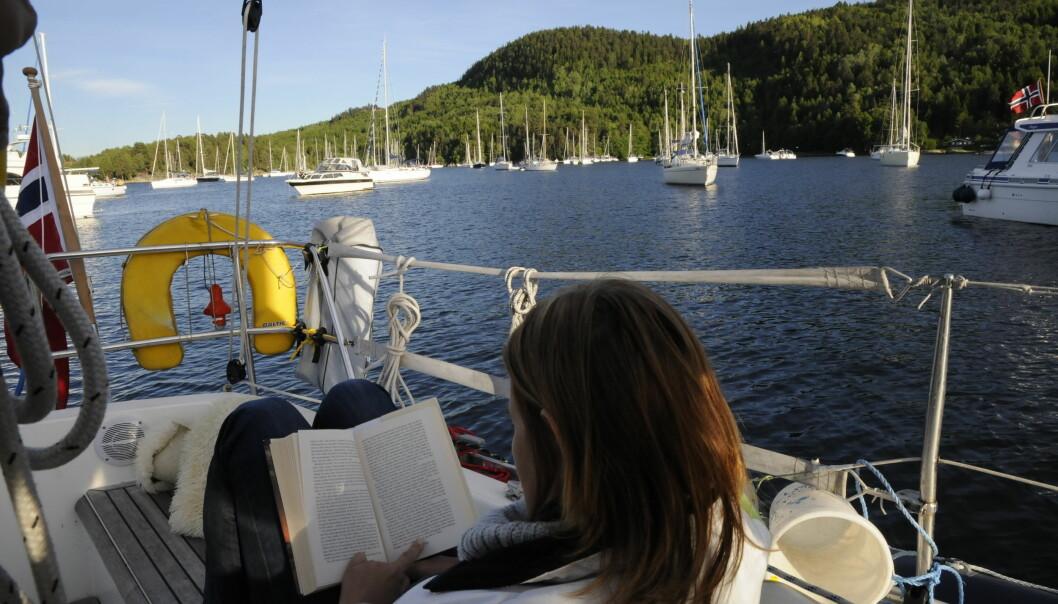 TRYGG: Ankring er den enkleste måten å ta en pause fra seilingen, men krever litt erfaring.