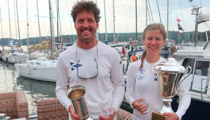 RASKEST: Morten Christensen og Anette Melsom Myhre vant den store klassen med en X-41.