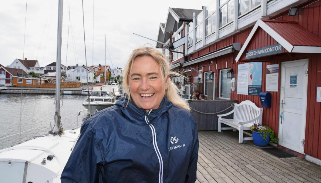 FORBEREDT: Daglig leder Inger Kristine Grønvold i Stavern gjestehavn er forberedt på en sommer med mye trafikk og smitteverntiltak.