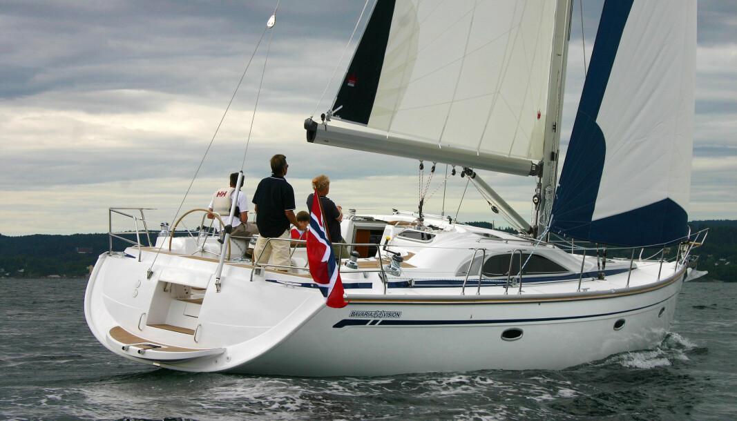 DEKKSHUS: Bavaria Vision 44 ble lansert som et kvalitetsprodukt og var vellykket. Modellen solgte bra og er i dag en ettertraktet båt på bruktmarkedet.