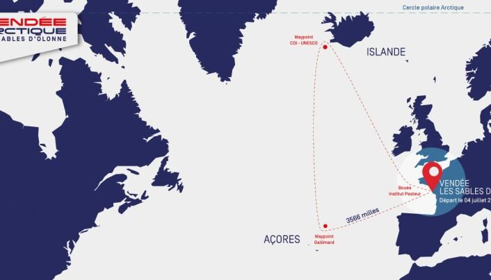 BANE: Deltagerne vil oppleve varierte forhold på den 3500 nm lange banen.