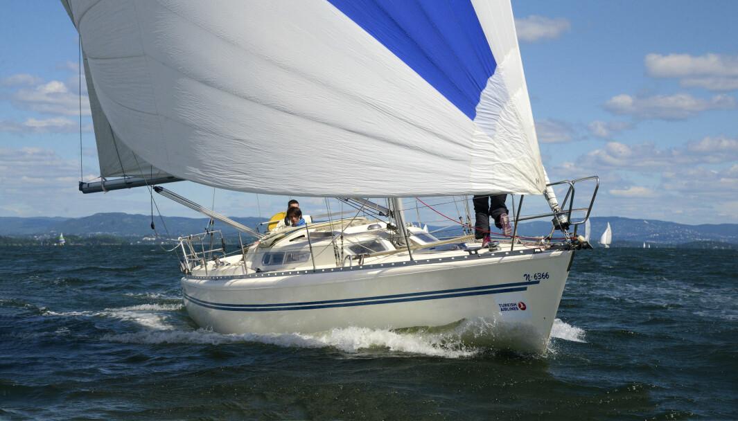TURGLEDE: Sist båten deltok i regatta var i turgledeklassen i Færder'n med min kone som skipper og to sønner som mannskap.