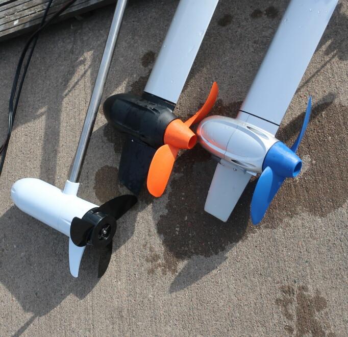 NEDSENKET: Elmotoren har selve drivverket under vann. Det gir mer direkte kraftoverføring. Jørn Finsrud2
