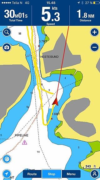 TEST: Vi sjekket fart og effektbruk på ulike båter. Tid og distanse ble tracket, og effektbruken målt.