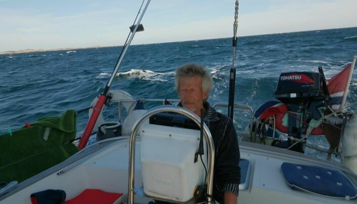 LANGTURSEILER: Thore Guldahl har seilt til Middelhavet og til Shetland, men møtte tøffere forhold i Skagerrak.