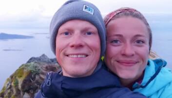 LANGTUR: Charlotte Bjørvik Bratsberg og Andreas Lundbø koser seg langs morskekysten etter tur til Karibia.