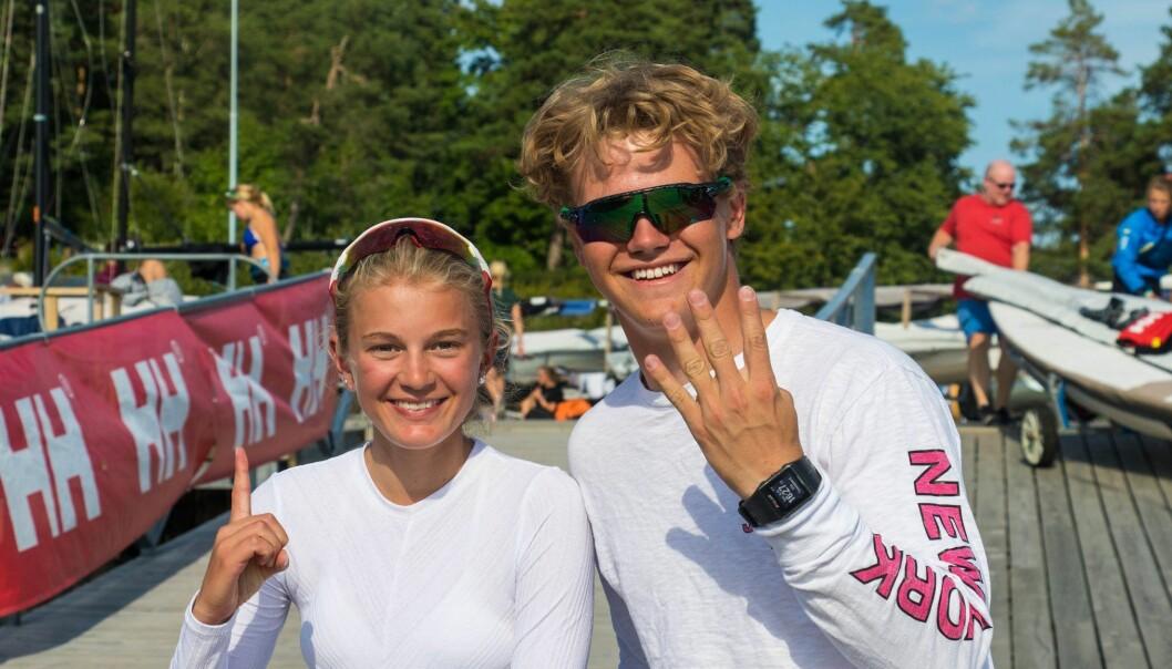 1–4: Mia Beckmann Klæboe vant sitt første NM-gull i Laser 4.7. Uffe Tomasgaard tok sitt fjerde gull på rad i Laser Radial.