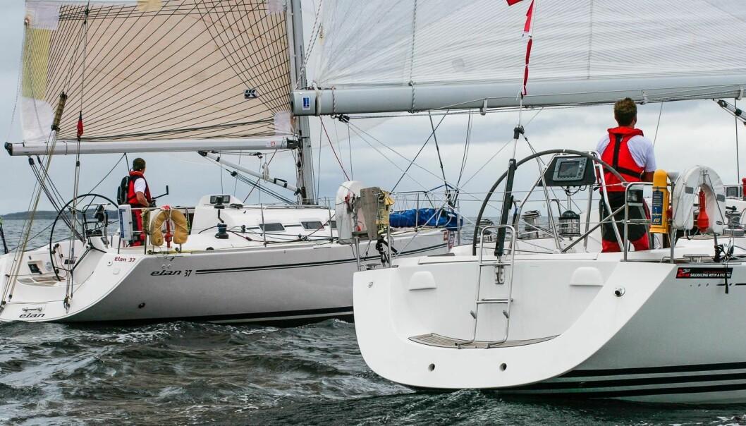 EN MOT EN: Under høstens første shorthanded-regatta blir det dueller en mot en – og resultatlisten genereres automatisk.