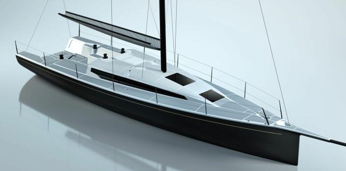 LANG: Et uttrekkbart rør er plassert i båtens baugspryd som gir muligheter for en enorm gennaker.